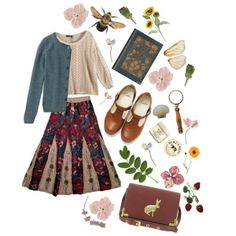 """(Erica adds: This was me in my twenties. :-)) """"In the garden"""" by dracaryss on Polyvore"""