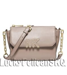 MICHAEL Michael Kors Florence Mini Messenger Crossbody Bag Dark Dune Beige NWT #MichaelKors #MessengerCrossBody