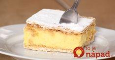Výborný dezert bez pečenia, krémový a vynikajúci. Potrebujeme: 1 l mlieka 200 g masla 2 balenia vanilkového cukru 3/4 šálky kr. cukru 1 pohár hladkej múky 4 vaječné žĺtky 1 vanilkový puding ďalej: práškový cukor 250 gramov sušienok (dá sa použiť aj hotový medový plát, tortové oblátky, alebo lístkové cesto na pečenú verziu) Postup: Múku... Mini Cheesecakes, Banana Bread Recipes, Vanilla Cake, Food And Drink, Treats, Cookies, Baking, Turmeric, Sweet Like Candy