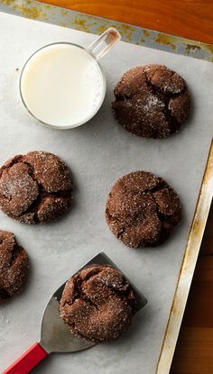 You can tell these five-ingredient cookies start with a box of devil's food cake mix because they're extra moist and fluffy. They couldn't be easier to make—the kids can even help shape the dough!