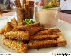 Česnekové chlebové hranolky s ďábelskou omáčkou
