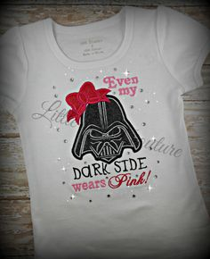 Even my Dark Side wears PINK baby girl Shirt by LittleQTCouture