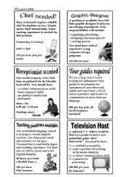 examples of advertisements for jobs in newspapers