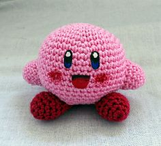 Kirby - Free Amigurumi Pattern - Download PDF (English and Dutch) http://www.pinkpenguin.nl/patterns/  or http://www.ravelry.com/patterns/library/kirby-5
