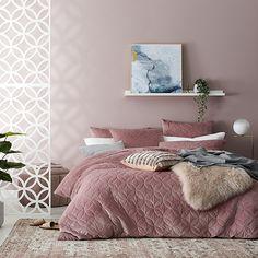 Gigi Quilted Velvet Quilt Cover Lotus Lotus, Home Republic, Velvet Furniture, Single Quilt, Velvet Quilt, Mattress Protector, Bedroom Colors, Quilt Cover, Linen Bedding
