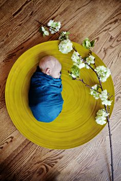 I don't have a photography board, but since this has a baby in it I suppose it fits in future endeavors. Use a charger plate - I love the size perspective