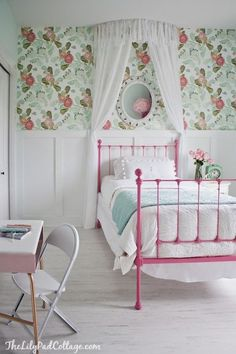 love the painted brass bed frame!