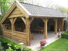 Pergola To House Attachment Code: 6451975796 Garden Buildings, Garden Structures, Outdoor Structures, Backyard Pavilion, Backyard Bar, Outdoor Rooms, Outdoor Living, Stommel Haus, Pavillion