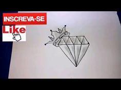 como desenhar Diamante-tattoo
