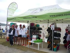 Printed pop up marquee for Crocs.