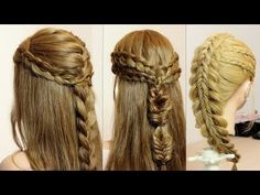 Hair tutorials. Compilation. Easy braid hairstyles. - YouTube