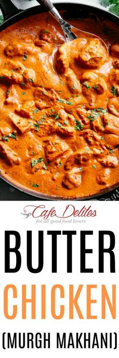Chocolate Whipped Cream Layer Cake is a Delicious and Cooling Summer Dessert Butter Chicken Murgh Makhani - Cafe Delites Chicken Tikka Masala, Garam Masala, Cafe Delites, Indian Food Recipes, Ethnic Recipes, Cooking Recipes, Healthy Recipes, Fun Cooking, Cooking Ideas