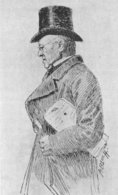 Andreas Bloch tegning av redaktør Christian Friele