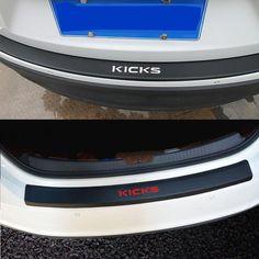 guard Rear Bumper Trunk Guard Plate Car Accessories For NISSAN Kicks PU leather Carbon fiber Styling After. Car Accessories, Carbon Fiber, Nissan, Pu Leather, Automobile, Trunks, Kicks, Plates, Auto Accessories