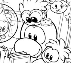 10 free club penguin coloring printable pages
