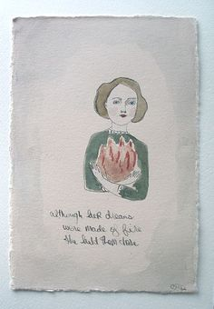 although her dreams were made of fire she held them close by amanda blake art, via Flickr