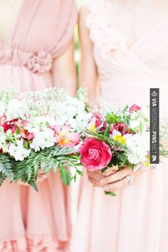 So awesome! - garden-inspired bridesmaids bouquets   CHECK OUT MORE GREAT PINK WEDDING IDEAS AT WEDDINGPINS.NET   #weddings #wedding #pink #pinkwedding #thecolorpink #events #forweddings #ilovepink #purple #fire #bright #hot #love #romance #valentines #pinky