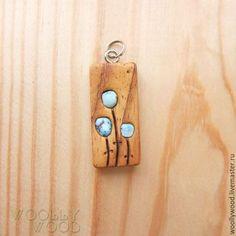 Кулоны, подвески ручной работы. Заказать Кулон деревянный с бирюзой. WooIIy Wood  *украшения из дерева*. Ярмарка Мастеров. Оранжевый, woollywood