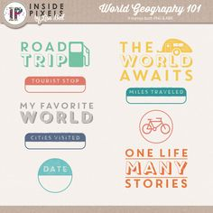Free Stamps from Inside Pixels {DigiScrap Parade August 2015: World Geography 101}