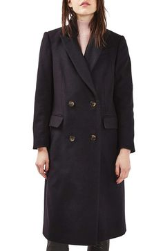 Topshop Editor's Wool Blend Coat available at #Nordstrom
