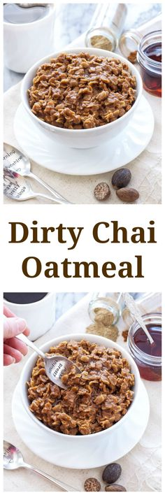 Dirty Chai Oatmeal   All the flavor of a dirty chai latte in your morning oatmeal!   @reciperunner