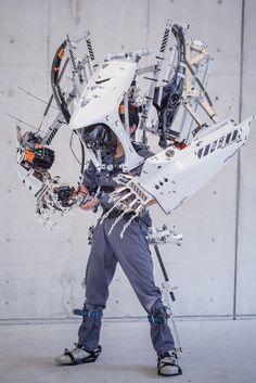 Art Cyberpunk, Cyberpunk Fashion, Art Reference Poses, Photo Reference, Armadura Steampunk, Futuristic Armour, 3d Cnc, Robot Concept Art, Sci Fi Characters
