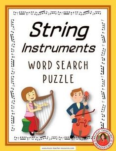 Music lessons  |  world music  |  music puzzles   | String Instruments Word Search Puzzle This Word Search Puzzle contains 30 string…   #musiceducation