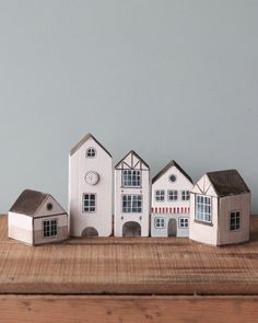 Handmade Wooden Dutch Town Gives 10 meals – Odin Parker Small Wooden House, Wooden Cottage, Wooden Houses, Wooden Camera, Toy House, Clay Houses, Timber House, Wooden Puzzles, Wood Toys