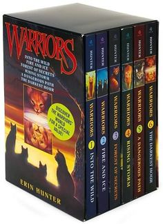 Warriors Box Set: Volumes 1 to 6 by Erin Hunter -- The books are about five clans of cats that live wild in the forest. ~~I have read this entire series to my son.  It is something we will remember decades from now.