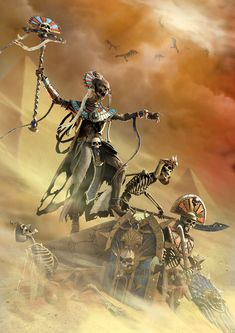 Here's the Liche Priest concept and model created for the Warhammer : CHAOSBANE's Tomb Kings DLC. Thank's to all the team Eko Software, specially my lead Eric Chantreau and the character artist team. Warhammer : Chaosbane is dev by Eko Goddess Art, Egyptian Goddess Art, Necromancer, King Art, Fantasy Art, Tomb Kings, Artwork, Warhammer Fantasy Battle, Warhammer Art