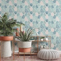Pastel Leaf Removable Wallpaper, Light Nature Wall Cling, Simple Botanical Wall Decal, Living Room Decor, Vintage Leaves peel and stick - Canvas Wall Decal / 1 roll: 24W x 132H