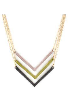 Toli Necklace in Chevron