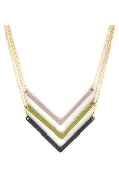 Triple #Chevron #Necklace #designtrend
