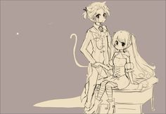 Vokaloid - Len and Miku - Not halloween anymore wip