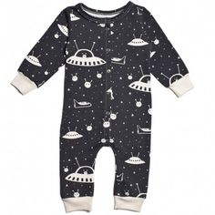 long-sleeve french terry jumpsuit (outer space) - @BabyList Baby Registry baby registry