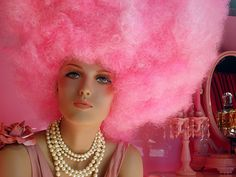I LOVE this photo! The huge and fabulous cotton candy wig is awesome!