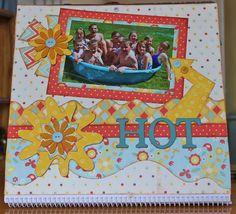 Close up of August Calendar designed by Debbie Budge using Kiwi Lane Designer Templates.