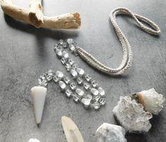 Collier long pendentif agate  lien tressé  style par JewelryByPlk