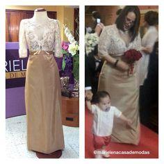 Una bella Dama de Amor, así lució Ximena Román en la boda de su hermana María Rosa con uno de nuestros diseños