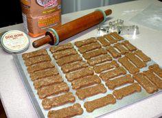 Gingerbread dog treats