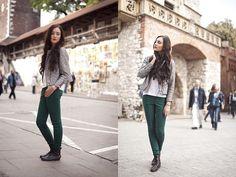 H&M Jacket, H&M Shirt, H&M Pants, Shoes