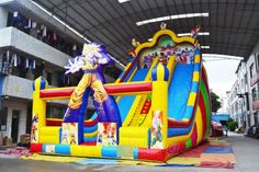 Cheap dual lane dragon ball goku inflatable slide for sale, giant inflatable slide for adults and kids who are big fan of anime. Inflatable Slide, Giant Inflatable, Goku, Dragon Ball, Sun, Anime, Kids, Young Children, Children
