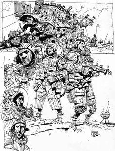 Sketchbook: More Spacedudes.