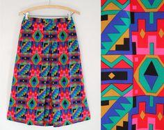Vintage 1980s Aztec Print Midi Skirt / by LovefieldVintageCo, $44.00