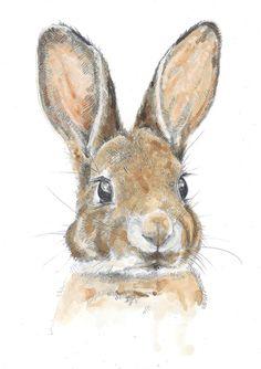 A4 Impression Little Albert aquarelle par HannahLongmuir sur Etsy