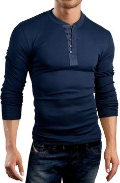 Grin&Bear Slim Fit contrast placket Shirt, BH127 at Amazon Men's Clothing store: