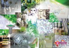 www.2-nice.nl, Event Decoration, Green & Nature, Styling, Sfeer, Groen, Chique, Fris, Natuur, Bloemen, Illustratie
