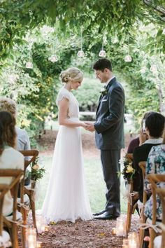 style | crisp white + fresh greens | Ortensia Gown from BHLDN | via: style me pretty