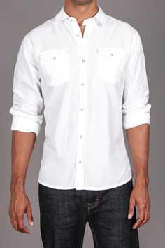 L/S Button Down Woven Shirt - would look so good on my man