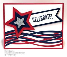 4th of July Swirly Scribbles Card